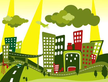 metropolitan: Cityscape Illustration