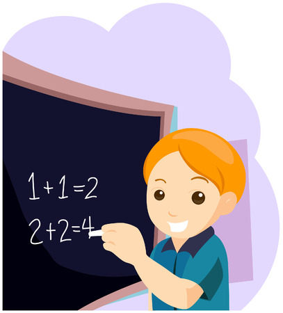 number of people: Child at Class with Clipping Path Illustration