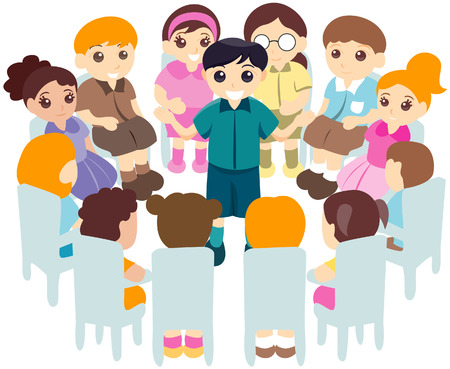 Children in Circle with Clipping Path Stock Vector - 3289298