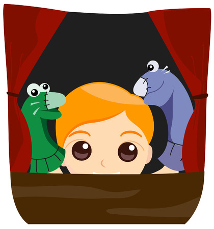 Puppet Show with Clipping Path Stock Vector - 3289262