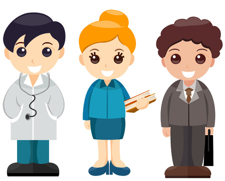 Young Professionals with Clipping Path Stock Vector - 3289249