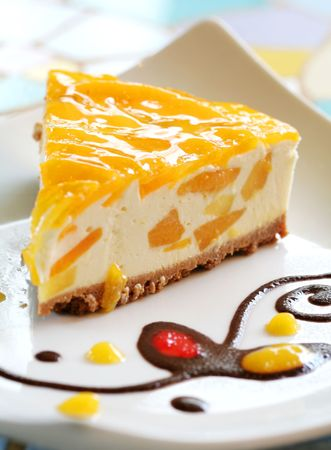 Mango Cheese Cake  Stock Photo - 3289309