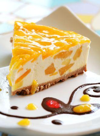cheese cake: Mango Cheese Cake  Stock Photo