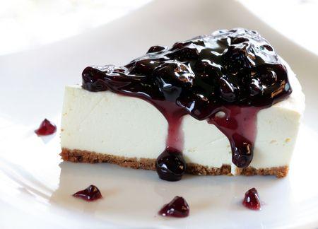 Een deel van Blueberry Cheesecake