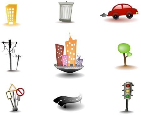 Urban Icons with Clipping Path Vector