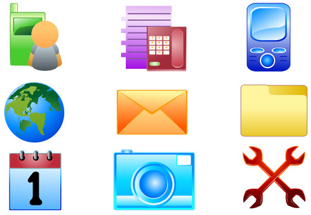 Cellphone Icons with Clipping Path Vector