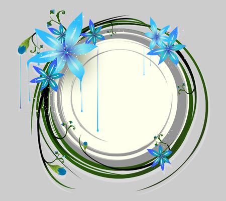 Illustration of Floral Frame Design Elements Illustration