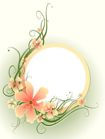 vine art: Floral Frame Illustration Illustration