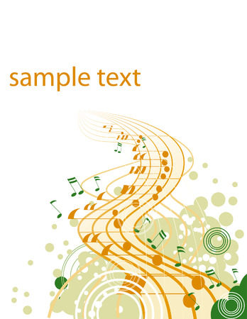 entertaining: Music Design Elements with Space for Text