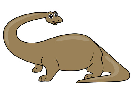 Apatosaurus / Brontosaurus with Clipping Path Stock Vector - 3332541