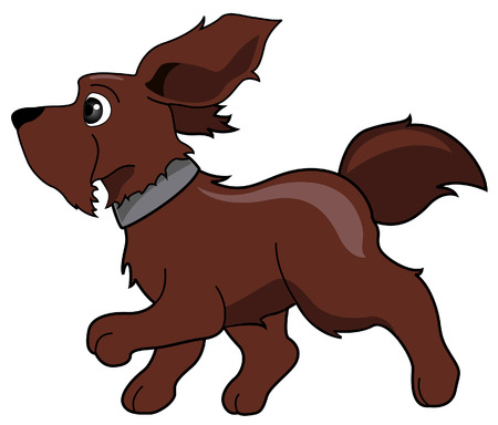 Running Dog with Clipping Path Illustration