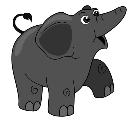 Elephant Illustration with Clipping Path Stock Vector - 3332544