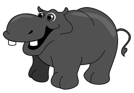 Hippopotamus Illustration with Clipping Path Illustration