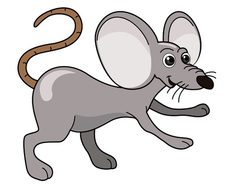Mouse Illustration with Clipping Path Vector