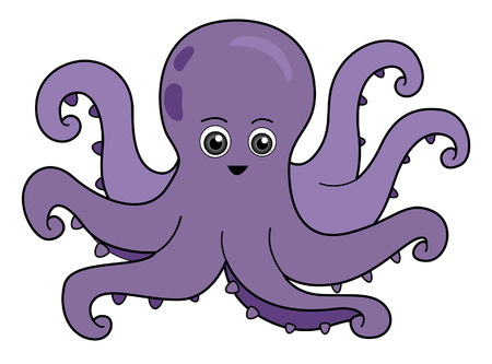 Octopus Illustration with Clipping Path