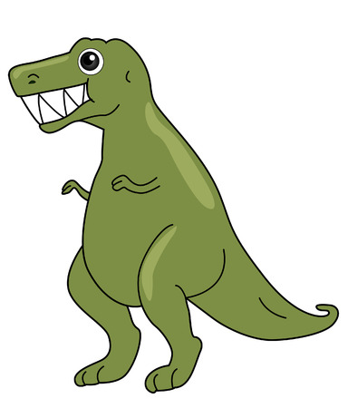 trex: TRex Illustration with Clipping Path