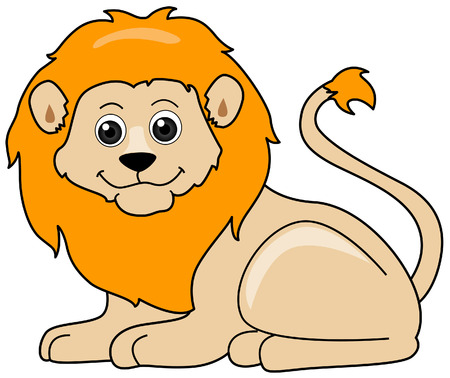 lion cartoon: Lion Illustration