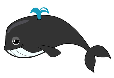 cartoon whale: Whale Illustration  Illustration
