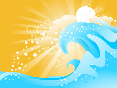 Blue Waves Illustration Stock Vector - 3356109