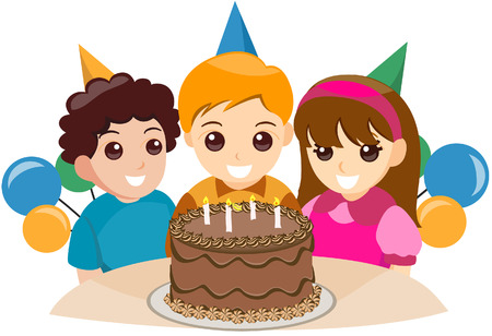 Birthday Boy with Clipping Path Stock Vector - 3374634