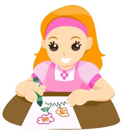 Child Drawing Stock Vector - 3395497