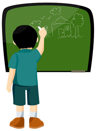 Child Drawing Stock Vector - 3395512