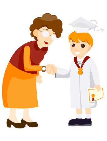 mani che si stringono: Giovani laureati