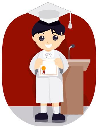 toga: Young Graduate  Illustration
