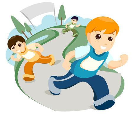 outdoor event: Children Running
