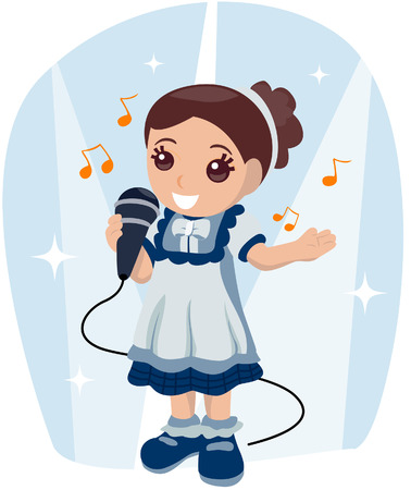 Singing Girl  Stock Vector - 3395507