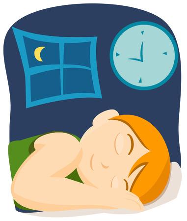 enfant qui dort: Sleeping enfant Illustration