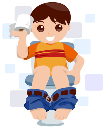 Child At the Toilet Stock Vector - 3395508