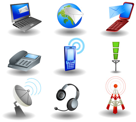 Communication Icons Stock Vector - 3395513