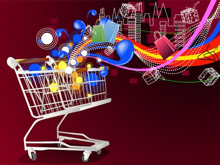 shopping bag vector: Shopping Design