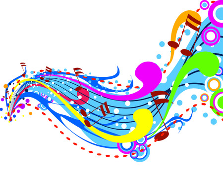 Music Wave Illustration with Clipping Path