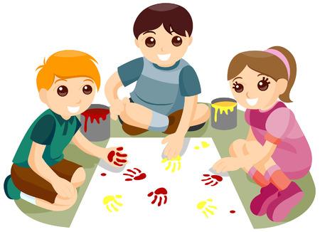 playmates: Mano de pintura con saturaci�n camino