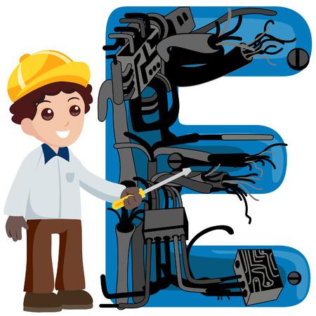 operates: Alfabeto Kids (ingegnere e.), con un tracciato di ritaglio