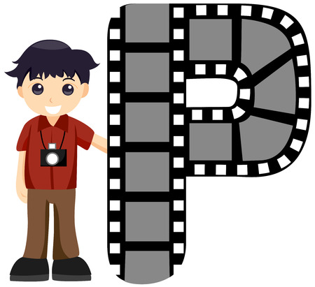 Alphabet Kids (Photographer) with Clipping Path  Vector