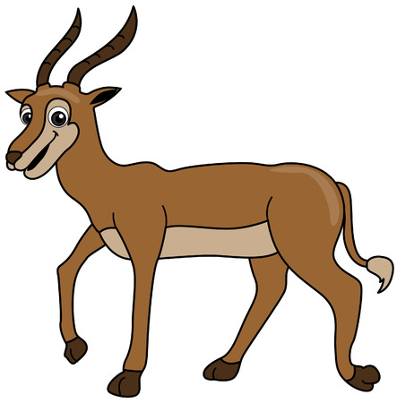 Antelope Illustration with Clipping Path Stock Vector - 3493520