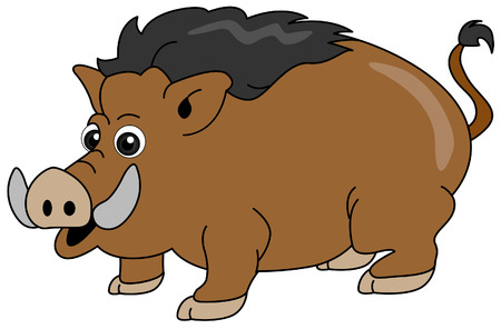Wild Boar with Clipping Path Vector