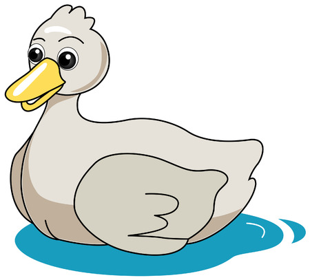 Duck Illustration with Clipping Path Stock Vector - 3493518