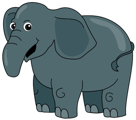 Elephant Illustration with Clipping Path Stock Vector - 3493567