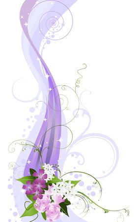 Floral Vines Illustration (Wedding Design) Stock Vector - 3538799