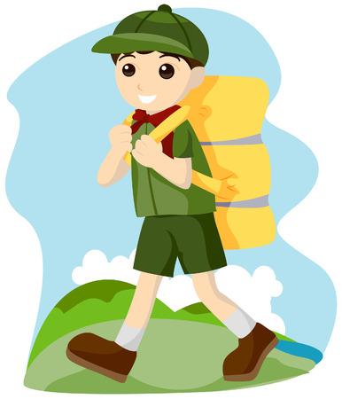 camper: Boy Camping
