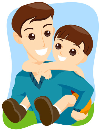 Father and Son Stock Vector - 3547488