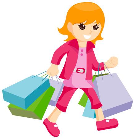 Young Shopper Stock Vector - 3547468