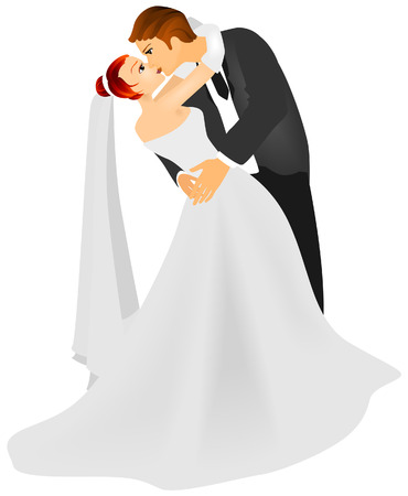 matrimony: Bride and Groom with Clipping Path