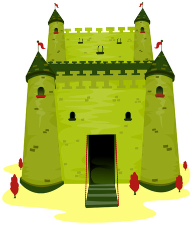 Castle Illustration with Clipping Path Stock Vector - 3661604