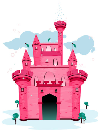Castle Illustration with Clipping Path Stock Vector - 3661597