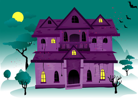 Haunted House with Clipping Path Vector